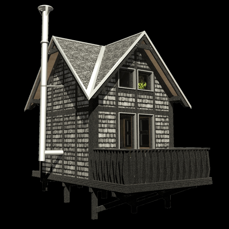 small cottage plans with loft frances Cabin With Loft Plans