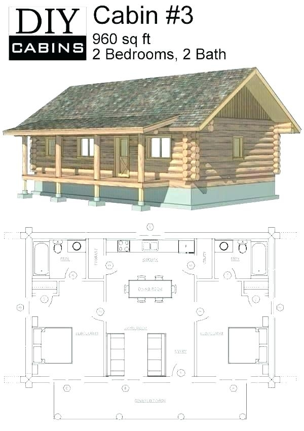 small hunting cabin floor plans free Small Hunting Cabin Plans