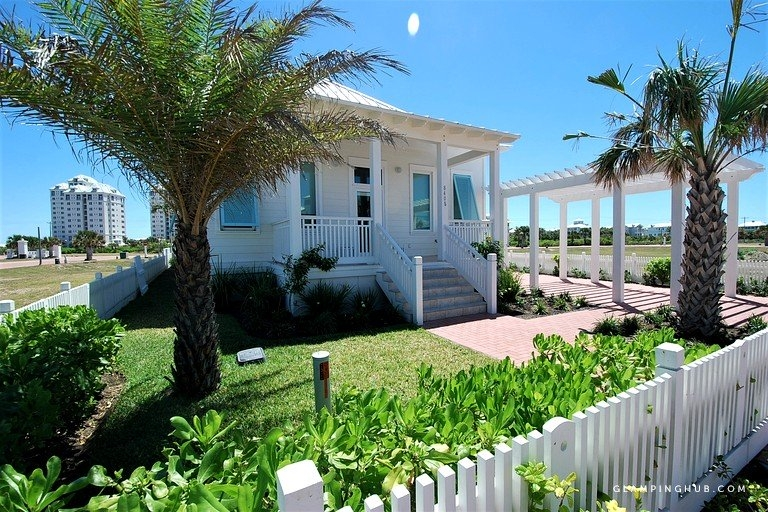 stylish beach cottage with private pool in south padre island texas South Padre Island Cabins