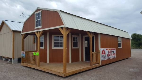 the beeville news 250959 16x40 deluxe lofted barn cabin 16x40 Deluxe Lofted Barn Cabin