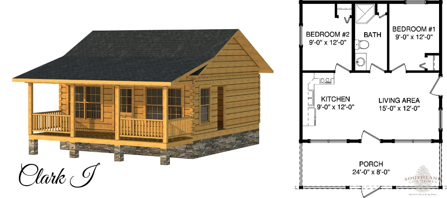 tiny houses living large southland log homes 600 Square Foot Log Cabin