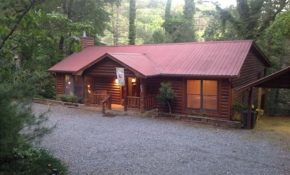 toccoa river front 4 bedroom 3 bath log cabin with hot tub Toccoa River Cabins