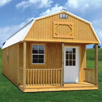 wacobuildings affordable quality storage buildings 16x40 Deluxe Lofted Barn Cabin