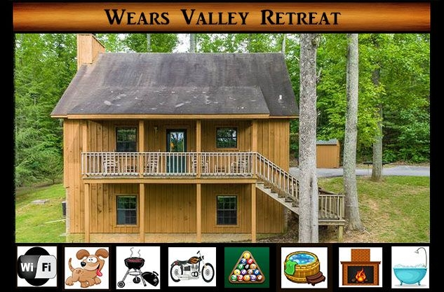 wears valley retreat pet friendly with fenced in yard hot tub pool table wifi pigeon forge Pet Friendly Cabins In Wears Valley Tn