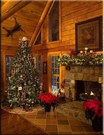 beautiful rustic log cabin christmas decor so cozy and Cabin Christmas Decor