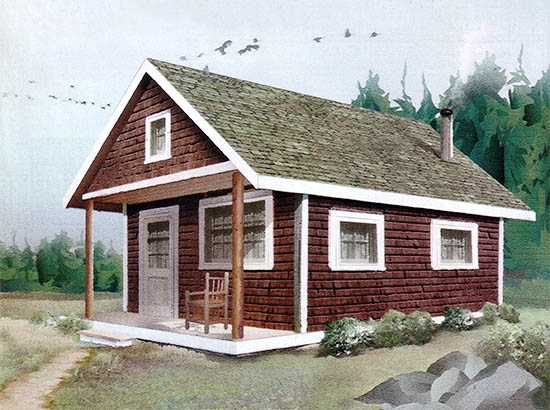 build this cozy cabin diy mother earth news Mother Earth Small Cabin