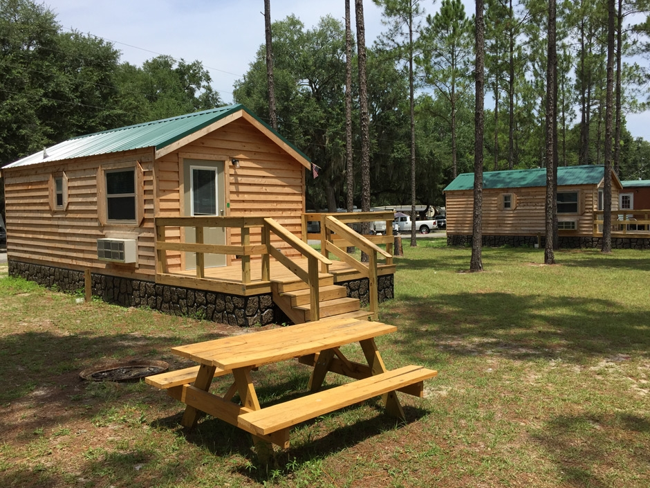 cabin camping in florida at jellystone park Florida Camping Cabins