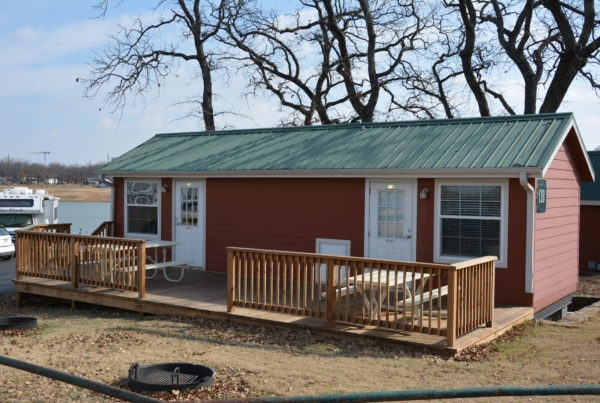 cabin descriptions the vineyards campground Grapevine Lake Cabins