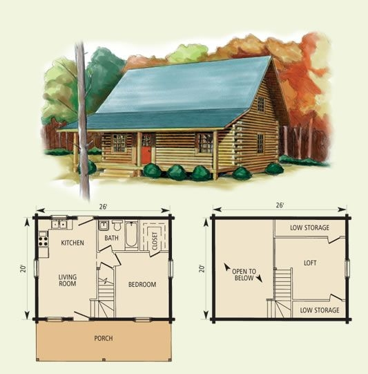 Permalink to Simple Log Cabin Floor Plans With Loft