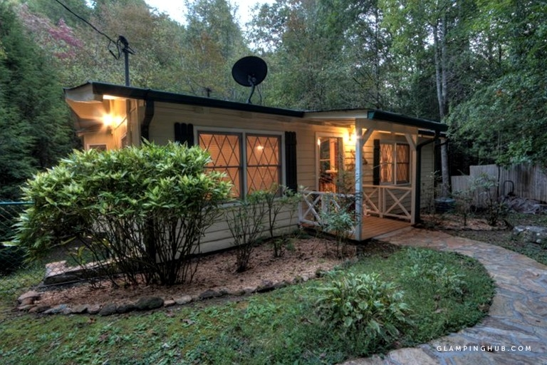 cozy dog friendly cabin rental on a creek in blue ridge georgia Pet Friendly Cabins In Georgia