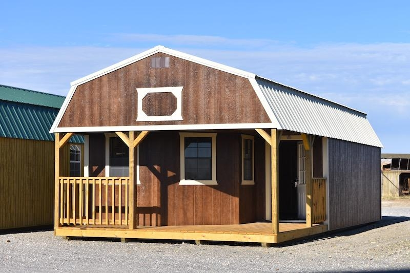 deluxe lofted barn cabins archives derksen portable buildings Derksen Lofted Barn Cabin