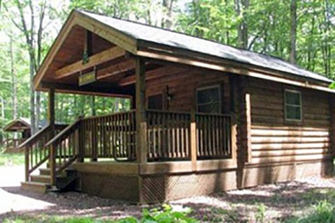 lodging locations map Pennsylvania State Parks Cabins