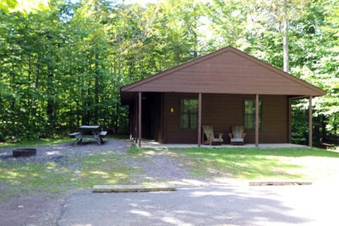 lodging locations map Ricketts Glen Cabins