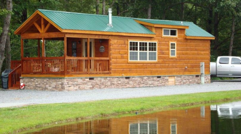 log cabin mobile homes makes you feel at home with nature Double Wide Mobile Homes That Look Like Log Cabins