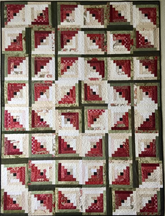 log cabin quilt patterns pdf christmas quilt pattern easy quilt patterns beginner quilt pattern watermelon quilt Log Cabin Quilts Pictures