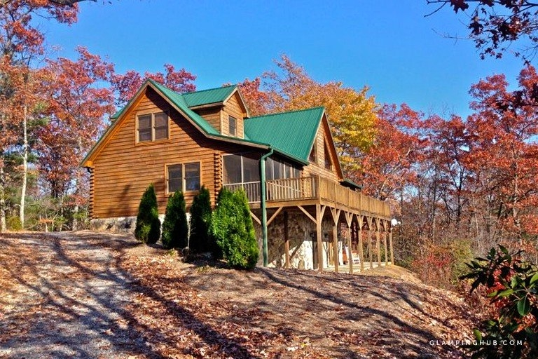 luxury log cabin rental with home theater room near blowing rock north carolina Blowing Rock Cabins