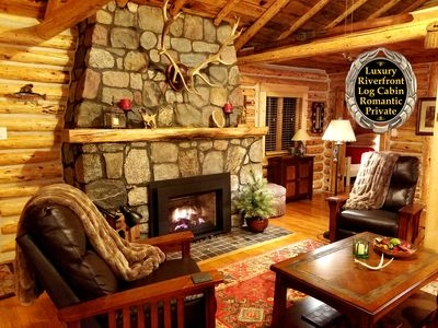 luxury riverfront log cabin simply magical romantic getaway luzerne Romantic Getaways In Michigan Cabin