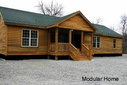 mobile modular and manufactured homes mobile home Double Wide Mobile Homes That Look Like Log Cabins