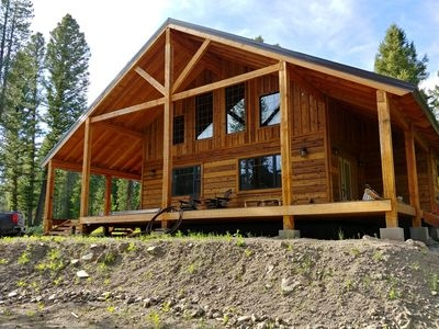 new construction luxury cabin minutes from west yellowstone sleeps 10 wifi island park Cabin Construction
