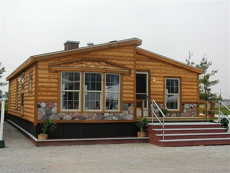 posts related mobile homes look like log cabins Double Wide Mobile Homes That Look Like Log Cabins