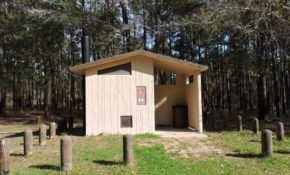 restroom on the atv trail very primitive but it does the job Sam Houston National Forest Cabins