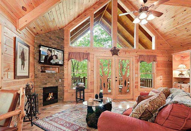 romantic luxury cabin 1 bed2 bath with hot tub fireplace Romantic Cabin Getaways With Hot Tubs