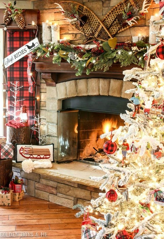 rustic natural cabin chic christmas style series the happy Cabin Christmas Decor