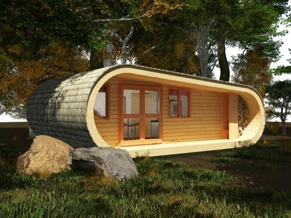 simple living in a 494 sq ft modernprefab curvy tiny cabin Tiny Prefab Cabins