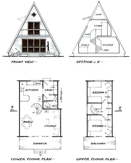 small a frame cabin floor plans designs and free unique Small A Frame Cabin Plans