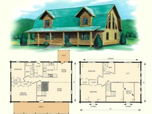 small cabin with loft floor plans hybridmediasl Log Cabin Floor Plans With Loft