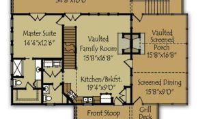 small mountain cabin plan in 2019 cabin floor plans Mountain Cabin Floor Plans
