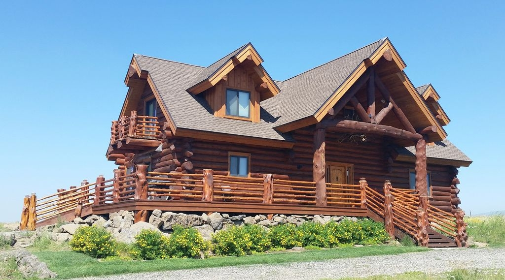 unique handcrafted log cabin on island park reservoir with beautiful views island park Island Park Cabins