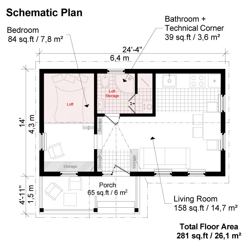 victorian small house plans diana Tiny Cabin Floor Plans With Loft