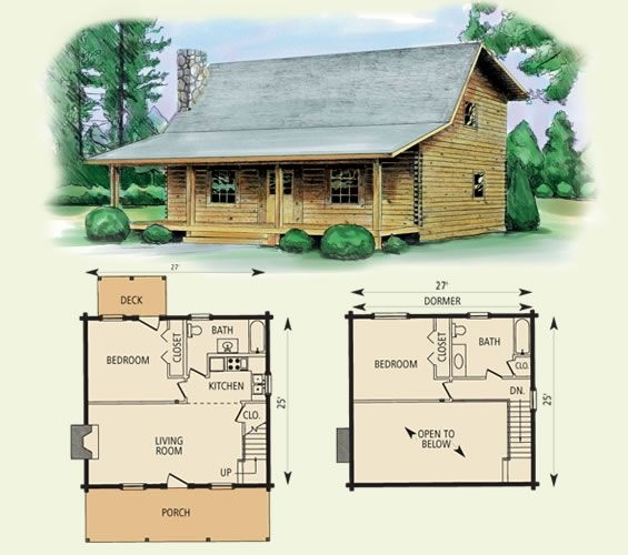 Perfect Cabin Floor Plans With Loft