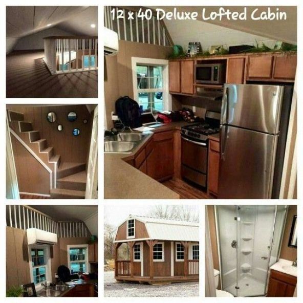 12x40 lofted shed tiny home in 2019 Deluxe Lofted Barn Cabin Interior