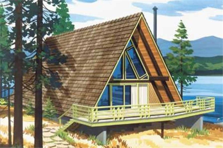 2 bedroom a frame house plan 1063 sq ft 1 bath 146 1535 A Frame Cabin Plans