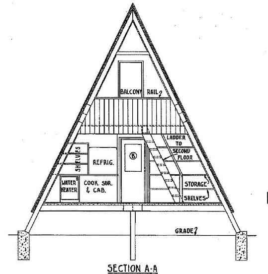 a frame cabin plan 36 feet high in 2020 a frame house A Frame Cabin Plans