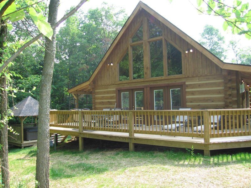 bloomington indiana luxury cabin the lake house back to Back To Nature Cabins