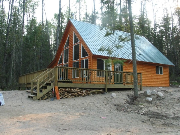 cabin construction ely tower vermillion lake babbitt mn 20 X 32 Cabin With Loft