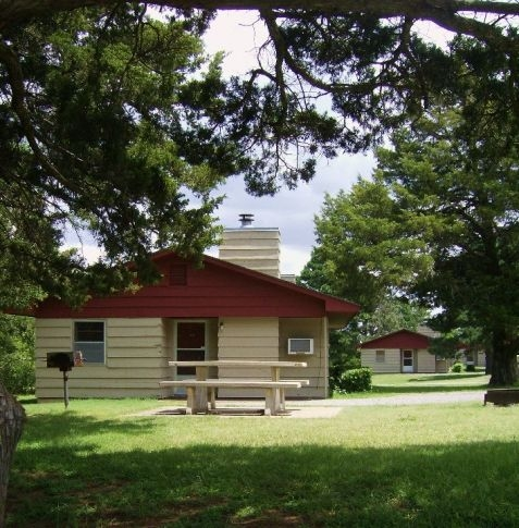 check into your roman nose state park cabin or lodge room on Roman Nose State Park Cabins