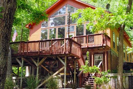 cliffside main house sleeps 18 great river road location Cabins Near New Braunfels Tx