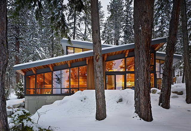 contemporary cabins in the woods Contemporary Cabins