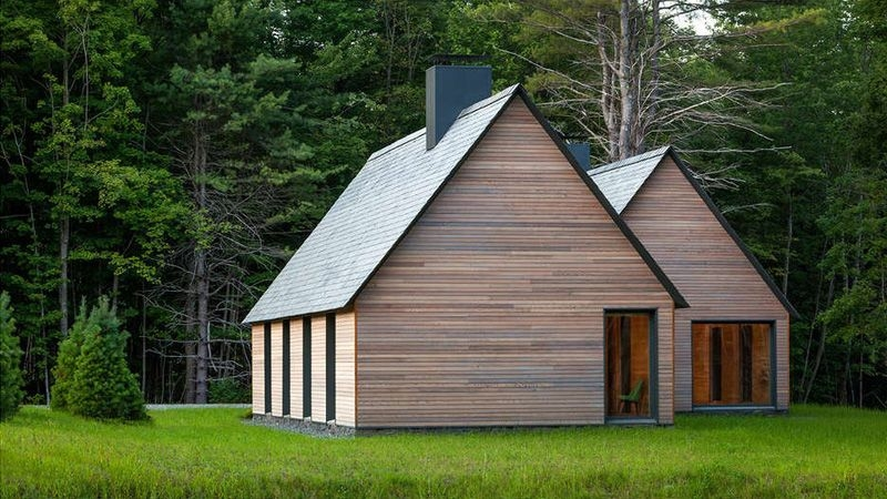 contemporary cottages contemporary gable roofs Contemporary Cabins