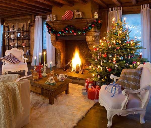 Elegant Beautiful Christmas Cabin Interiors Gallery