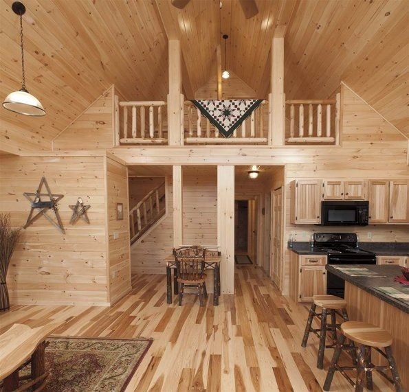 Elegant Deluxe Lofted Barn Cabin Interior