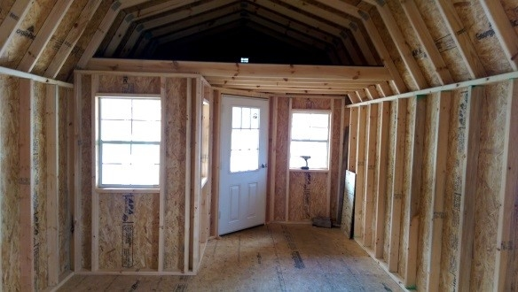 dura built deluxe lofted cabins mov buildings Deluxe Lofted Barn Cabin Interior