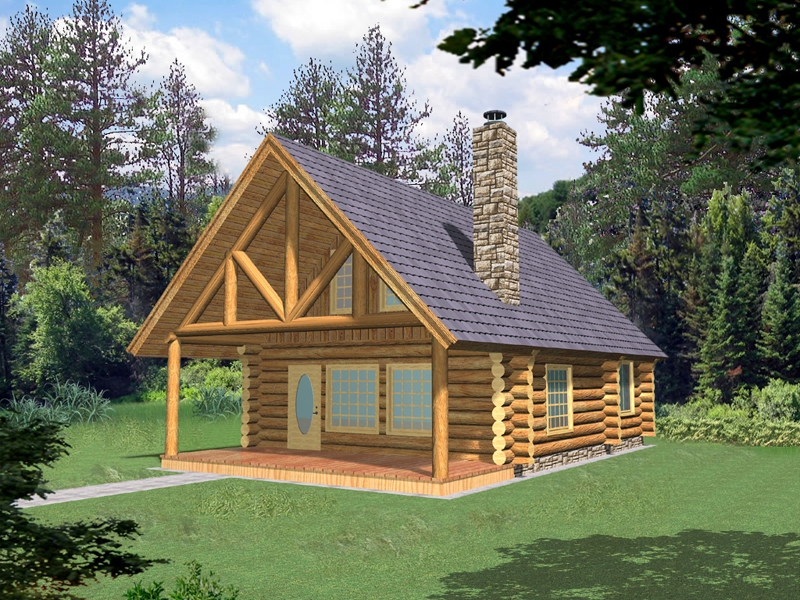 frisco pass log cabin home plan 088d 0355 house plans and more Log Cabin Plans