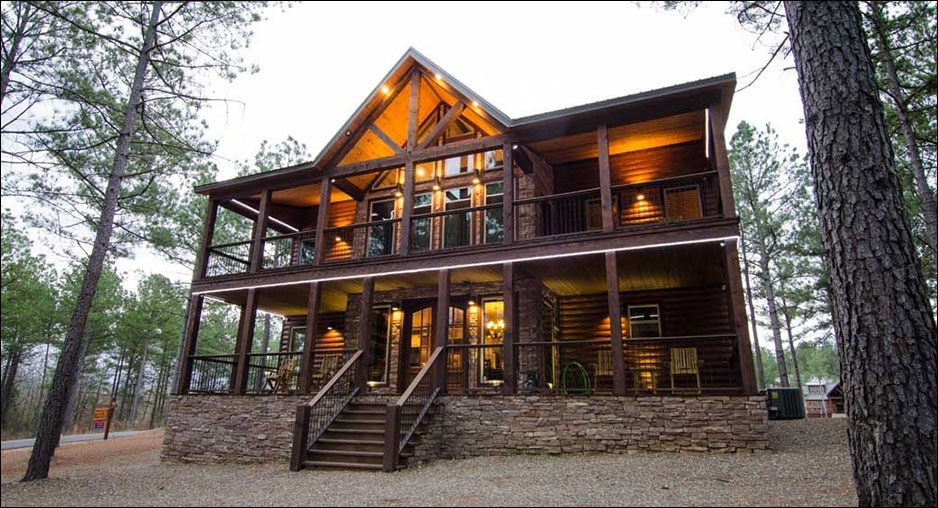 geronimo cabin cabin rentals beavers bend lodging Beavers Bend Luxury Cabins