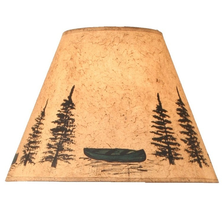 green canoe lamp shades Cabin Lamp Shades