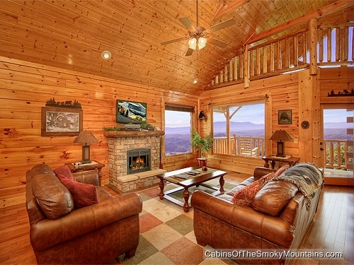 heavenly high rental cabin in the smoky mountains Smoky Mountain High Cabin